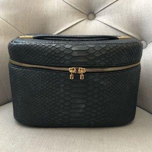 Kendra Scott Black Embossed Train Case Beauty Bag
